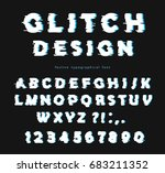 glitch font with distortion... | Shutterstock .eps vector #683211352