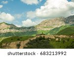 the caucasus mountains   Shutterstock . vector #683213992