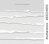 vector realistic torn paper... | Shutterstock .eps vector #683214052