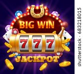big win 777 lottery vector... | Shutterstock .eps vector #683218015