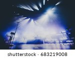empty illuminated concert club... | Shutterstock . vector #683219008