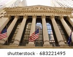 new york stock exchange at wall ... | Shutterstock . vector #683221495