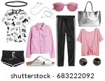 a set of fashionable clothes... | Shutterstock . vector #683222092