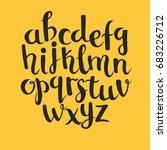 calligraphic vector font.... | Shutterstock .eps vector #683226712