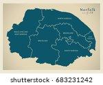 modern map   norfolk county