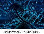 abstract futuristic dark and... | Shutterstock . vector #683231848