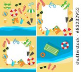 beach vacation concept with...   Shutterstock . vector #683232952