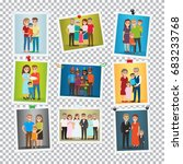 family portrait set. happy... | Shutterstock . vector #683233768