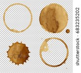 coffee stains collection | Shutterstock . vector #683235202