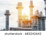 oil and gas industry refinery... | Shutterstock . vector #683242642