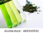 powder of cannabis  drugs  ... | Shutterstock . vector #683243542