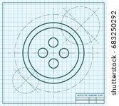 vector blueprint tailor button... | Shutterstock .eps vector #683250292