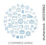 raster set of e commerce modern ... | Shutterstock . vector #683250862