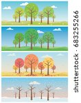 landscape with forest in all... | Shutterstock .eps vector #683255266