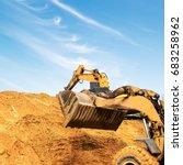 construction sites  excavators... | Shutterstock . vector #683258962