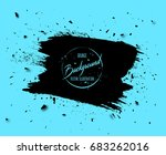 grunge banner with stains ... | Shutterstock .eps vector #683262016