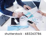 organisation structure. people... | Shutterstock . vector #683263786