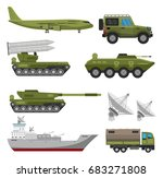 military army big set of base... | Shutterstock .eps vector #683271808
