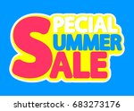 special summer sale  isolated... | Shutterstock .eps vector #683273176