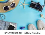fashion summer women clothes...   Shutterstock . vector #683276182