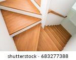 Pattern Of Wooden Stairs In Th...