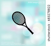 tennis racquet icon | Shutterstock .eps vector #683278822