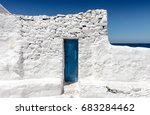 the blue and white of the... | Shutterstock . vector #683284462