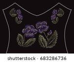 decorative flowers in...   Shutterstock .eps vector #683286736