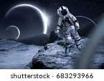 astronaut and space  | Shutterstock . vector #683293966