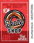 color vintage skate shop banner | Shutterstock .eps vector #683294386