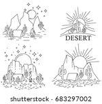 Set Of Four Different Desert...