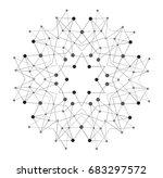 raster shape  molecular... | Shutterstock . vector #683297572