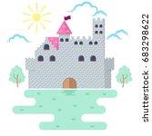 Castle Illustration. Medieval...