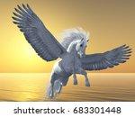 Ivory Pegasus 3d Illustration   ...