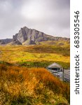rocky hill of the storr  isle... | Shutterstock . vector #683305546