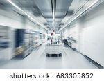 blurred image interior of clean ... | Shutterstock . vector #683305852