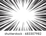sun rays for comic books radial ... | Shutterstock . vector #683307982