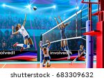 female professional volleyball... | Shutterstock . vector #683309632