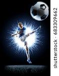professional football soccer... | Shutterstock . vector #683309662