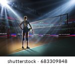 female professional volleyball... | Shutterstock . vector #683309848