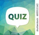 quiz related concept vector... | Shutterstock .eps vector #683311162
