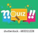 quiz related concept vector... | Shutterstock .eps vector #683311228
