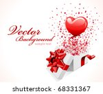 open gift present box with fly... | Shutterstock .eps vector #68331367