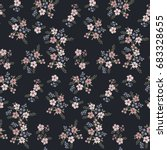 floral seamless pattern of...   Shutterstock .eps vector #683328655
