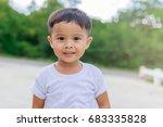 portrait of happy asian child... | Shutterstock . vector #683335828