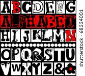 hand drawn alphabet isolated on ... | Shutterstock . vector #68334001