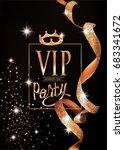 vip elegant invitation card...   Shutterstock .eps vector #683341672