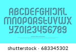 alphabet letters and numbers... | Shutterstock .eps vector #683345302
