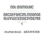 sans serif alphabet letters and ... | Shutterstock .eps vector #683345308