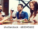 leisure  eating  food and... | Shutterstock . vector #683345602